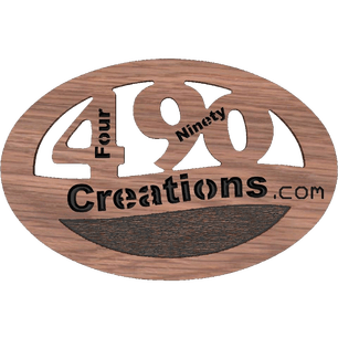 The logo for FourNinety Creations who is a powder coating and plasma cutting facility in Oklahoma