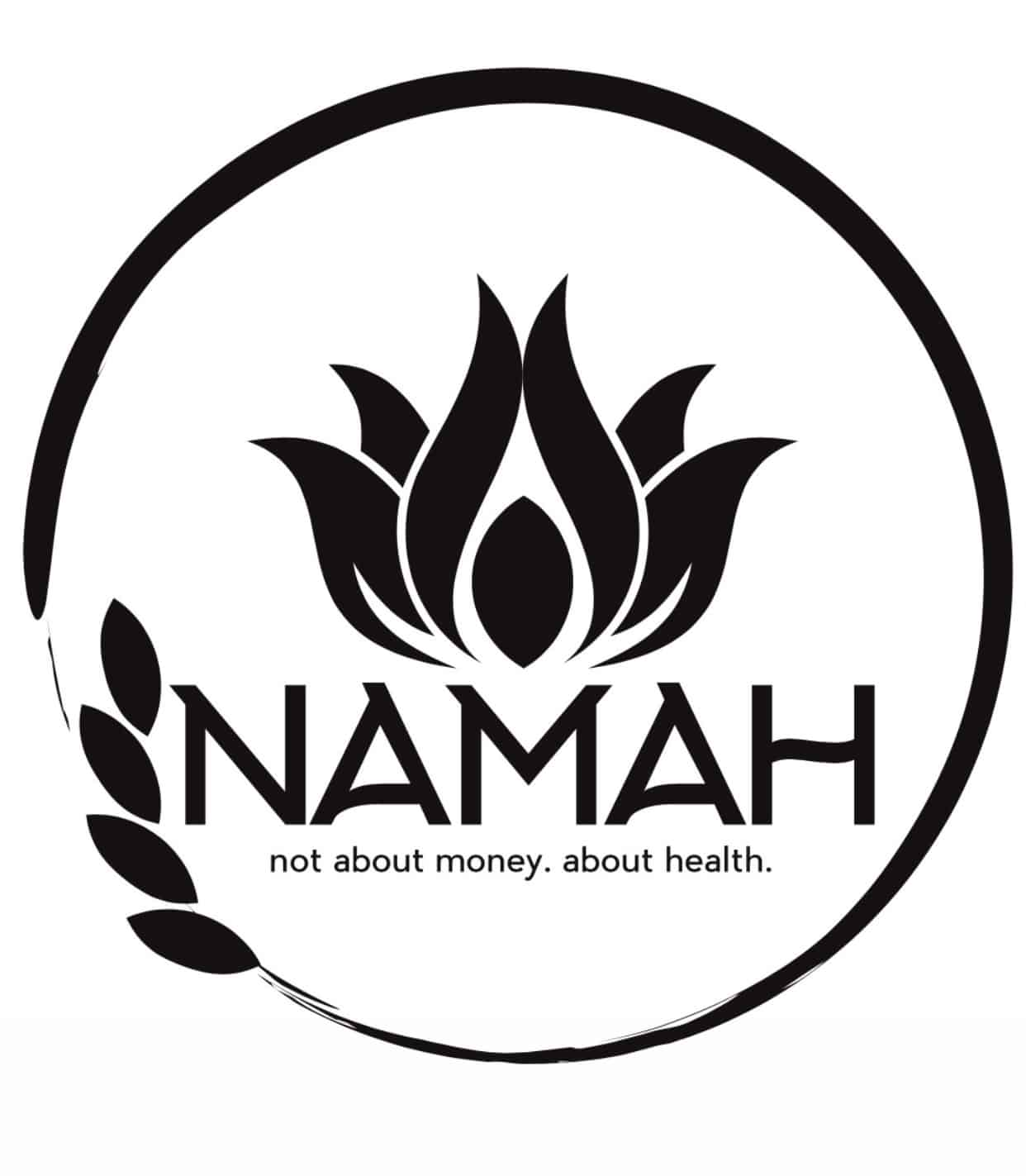 The official logo of NAMAH which is an herbal remedy store in Oklahoma
