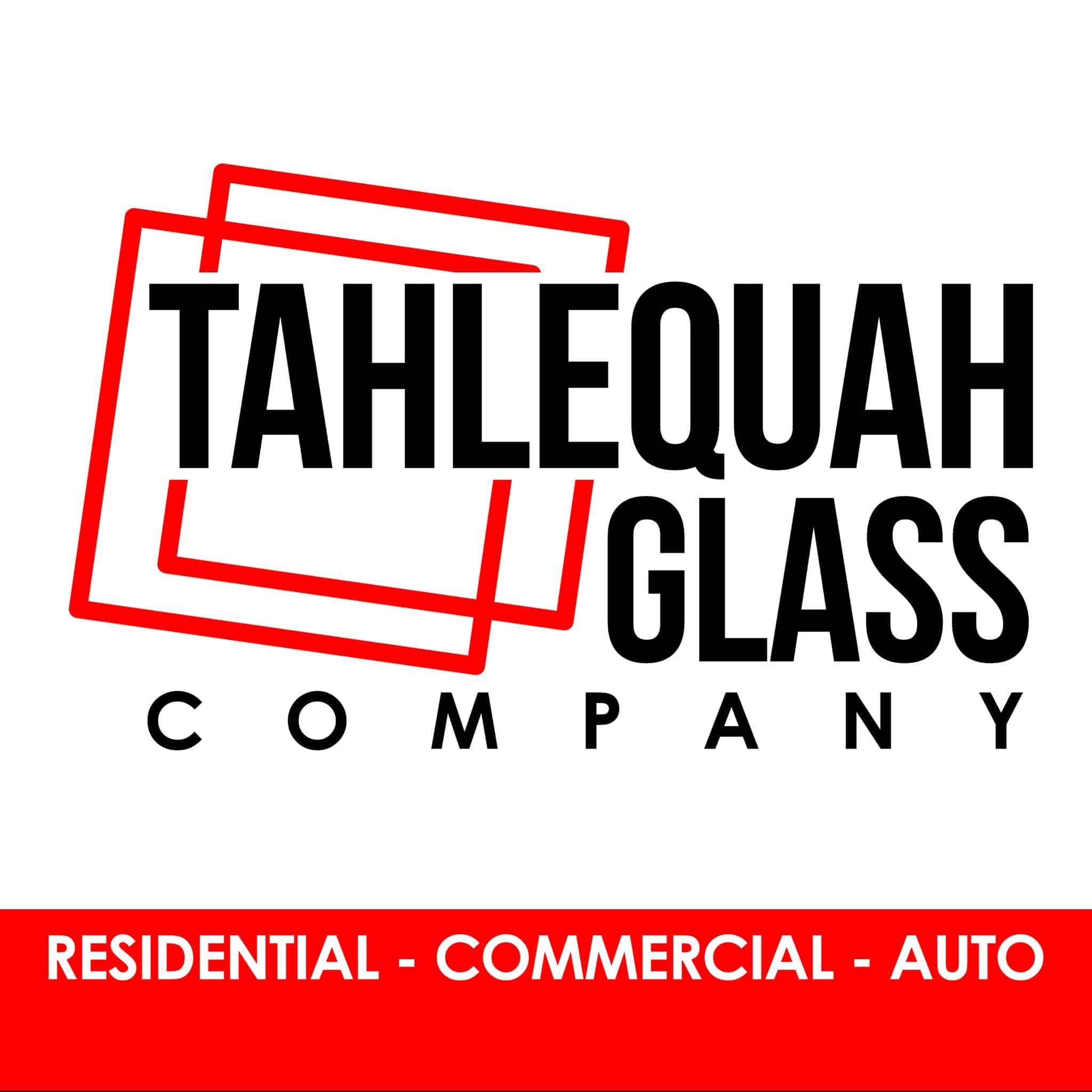 The logo for Tahlequah Glass Company